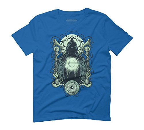 The Future Looks Bright Men's Graphic T-Shirt - Design By Humans Royal Blue