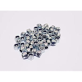 5 Bolt Base A2 Stainless Steel Nylon Insert Nyloc Nylock Lock Nuts Type P Thick M5 X 0.8mm Pitch