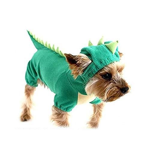 Dinosaurier Kostüm Hunde - SAMGU Halloween Dinosaurier Kostüm Hunde Haustier Hunde Bekleidung Farbe Grün Größe Small