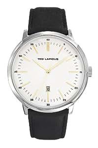 Ted Lapidus - 5129402 - Montre Homme - Quartz Analogique - Cadran Noir - Bracelet Cuir Noir