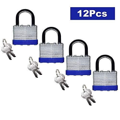 Candado (Pack de 12) H6cmxW4cmxT1,5cm - 2 x Llaves para cada cerradura