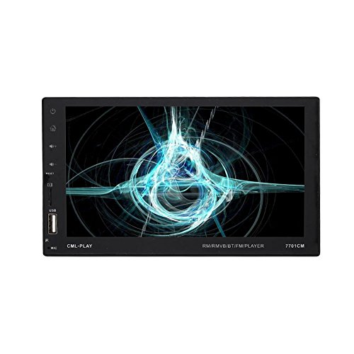 Auto-Stereo-Player MP5 mit 7,0-Zoll-Display Double Barren Bunte High-Definition-Voll Touch-kapazitiven Bildschirm Smart Remote Control FM USB