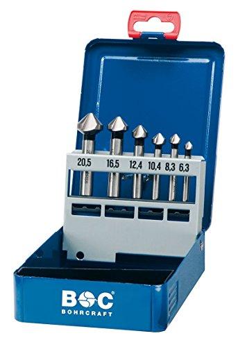 Bohrcraft Kegelsenker Set HSS-E Co5 in Industriekassette  KS6 Co / Ø 6,3 - 20,5 mm / 6-teilig / 1710 14 10006