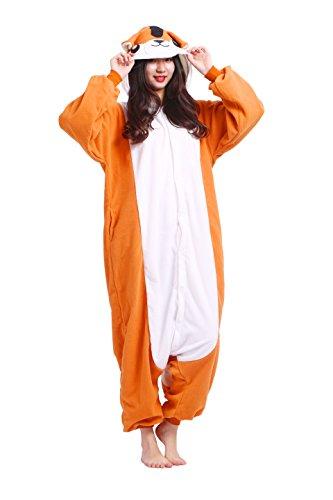 Imagen de magicmode unisex cosplay disfraces de animales kigurumi pijamas adultos enterizo anime sudadera con capucha ropa de dormir de color naranja de la rata de m