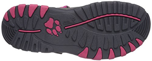 Jack Wolfskin Girls Bahia, Sandales de sport fille Rose - Pink (rosebud 2099)