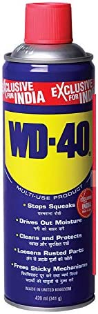 Pidilite WD-40, Multipurpose Spray, 420ml Rust Remover, Lubricant, Stain Remover, Degreaser, and Cleaning Agen