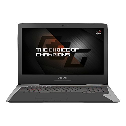 "Asus ROG G752VSKBL-BA266T Notebook, 17.3"" FHD LED, i7-7820HK, 2.9 GHz, SSD da 1TB e HDD da 1TB, 32 GB di RAM, Scheda Grafica nVidia GeForce GTX 1070, Grigio"