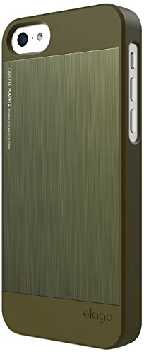 Elago Outfit Matrix Case for iPhone 5C Camo Green