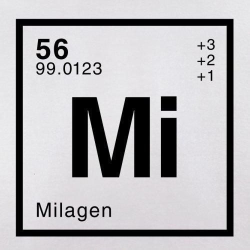 Mila Periodensystem - Herren T-Shirt - 13 Farben Weiß