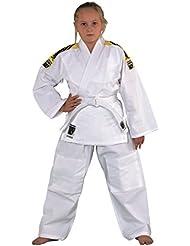 """'""""Junior Traje de judo con bandas en los hombros de Kwon, color blanco, 551302, talla 100–190, color Weiss, tamaño 180"""