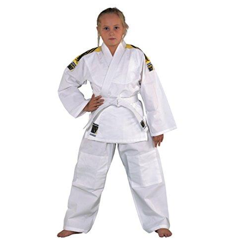 """Judoanzug """"Junior"""" mit Schulterstreifen von KWON, weiß, 551302, Gr.150"""