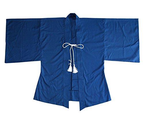 Princess of Asia Japan Samurai Haori Kimono Jacke (Einheitsgröße, Blau)
