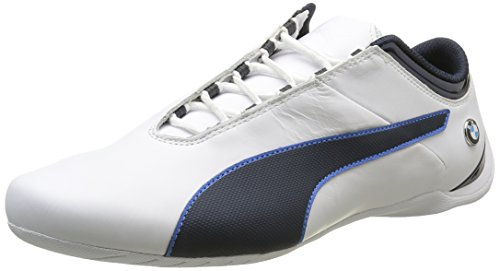 Puma Unisex-Erwachsene Bmw Ms Future Cat S2 Low-Top, Weiß Weiß (Puma White-Team Blue 01)