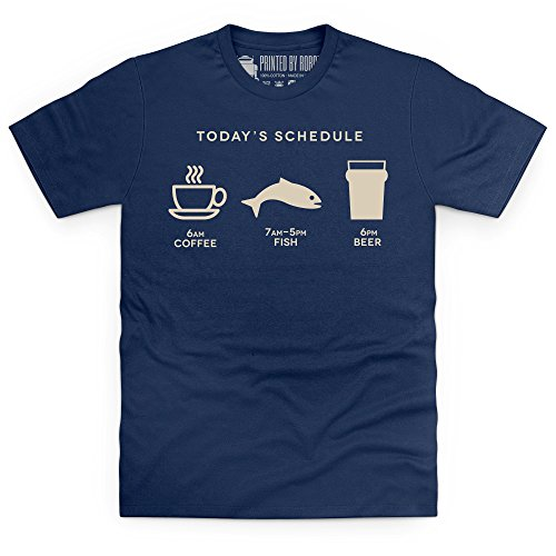 Coffee Fish Beer T-Shirt, Herren Dunkelblau