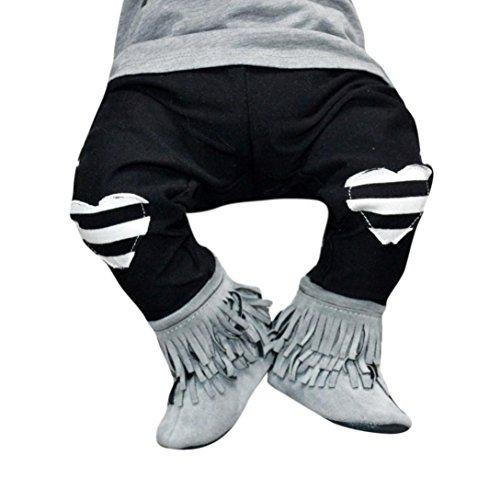 Culater® Newborn delle ragazze dei neonati Cuore Harem bambini delle ghette pantaloni vestiti (12M)