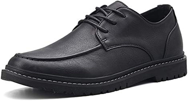 Scarpe da Uomo in Pelle Oxford Casual Low-Top Light Allacciatura Confortevole Scarpe Stile Britannico Scarpe da... | Usato in durabilità  | Scolaro/Signora Scarpa