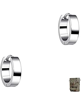 Original Enez Ohrringe Creolen echt 925 Sterling Silber Ø 1,2 cm + Geschenkbeutel R2184a