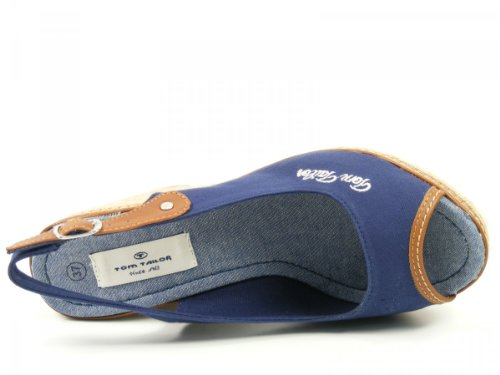 Tom Tailor , Sandales pour femme Bleu Blau (dark blue 069) Bleu - Blau (dark blue 069)