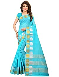 TRUNDZ Women's Pure Cotton Silk Blend Printed Saree Partywear/Wedding Saree/Casual Wear Saree With Blouse Piece