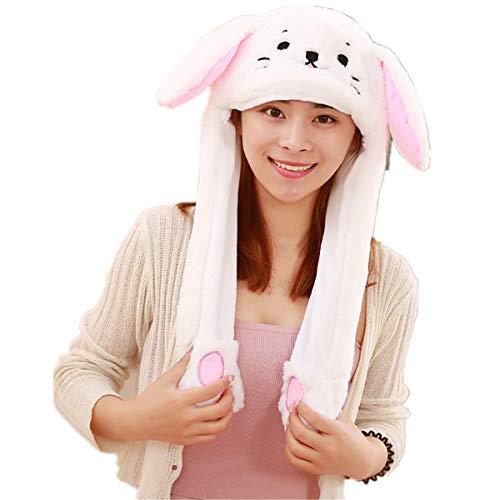 Dreamworldeu Damen/Herren Plüsch Hut Beweglich Mütze Kreatives Geschenk Kaninchen Ohr Hut