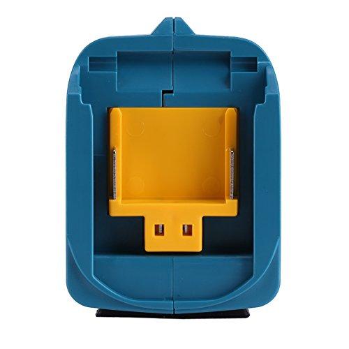 Zerodis ADP05 Makita Akku-USB Adapter für Makita BL1815 BL1830 BL1840 BL1850 BL1415 Li-Ion Akku 14V und 18V (Blau)