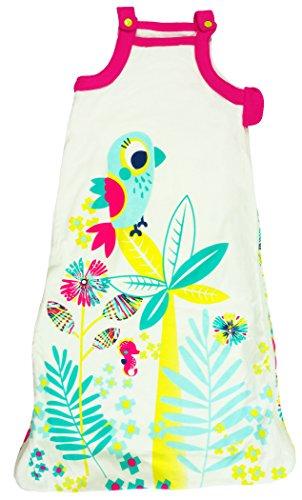 Petit Béguin - Baby Mädchen Sommer Schlafsack Baumwolle mitwachsend Summertime Gr. 68-92 cm (6/24M)