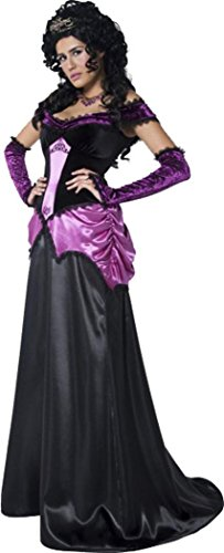 Costume Halloween Costume da contessa Nocturna, femmina, nero Black Small
