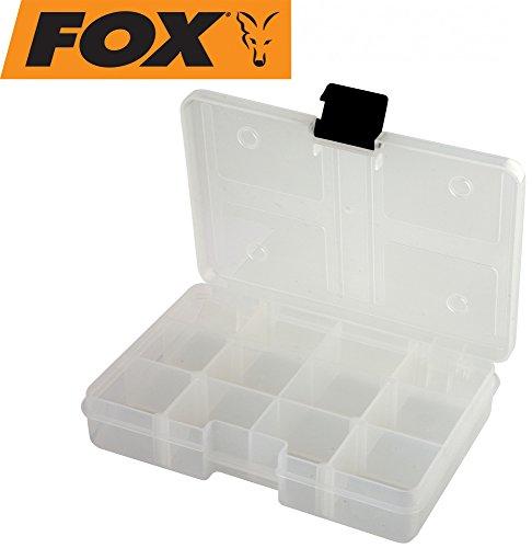 Fox Rage Stack and Store Box 12 comp small shallow Clear Angelbox, Köderbox, Angelboxen für Kunstköder wie Blinker, Spinner, Wobbler, Gummifische, Jigs, Köderboxen, Angelkasten, Angelkiste