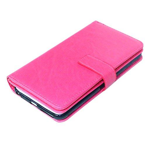 iphone 6 Plus coque, cover iphone 6 Plus, etui iphone 6 Plus, [Syncwire Câble Gratuit] FUBAODA Coque/ Housse/ Case/ Couverture/ Étui de Protection/ Cover/ PU Leather Coque [Cadre photo][Sac à main] po Rose