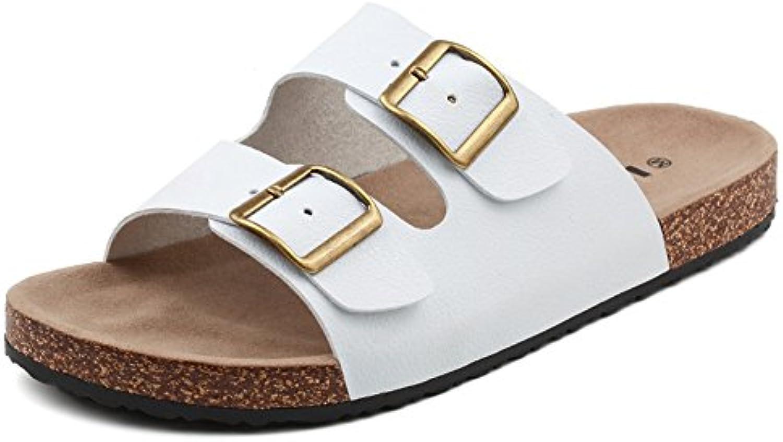 XIAOLIN Einfache Männer Kork Hausschuhe Sommer rutschfeste Casual Hausschuhe Herren Strand Sandalen Trend Sandalen