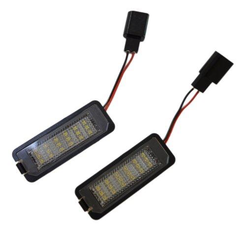 Handycop® Kennzeichenbeleuchtung für Volkswagen VW Golf 4 / Golf 5 / Lupo / Polo / Passat - Xenon Optik mit Zulassung