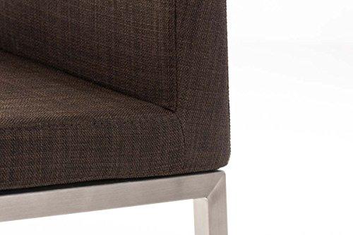 Clp sgabello alto bar ottawa in acciaio inossidabile e tessuto