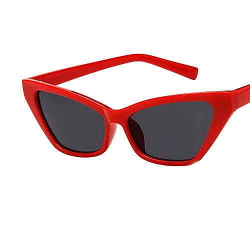 Yezijin_Sunglasses YEZIJIN Damen Sonnenbrille mit Katzenaugen-Rahmen, klare Gläser Free Size e