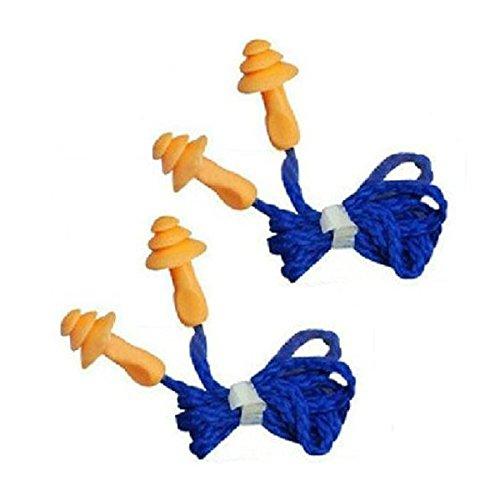 NUOLUX Silicone Réutilisables Bouchons d'oreilles Antibruit avec Cordon 10 paires image 2
