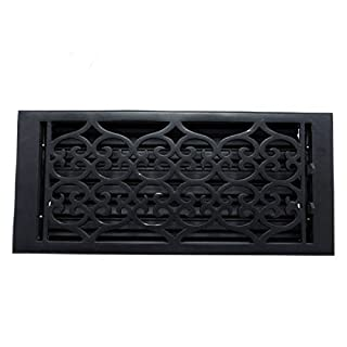 Adonai Hardware Flower Cast Iron Wall And Floor Register with Louver - 6