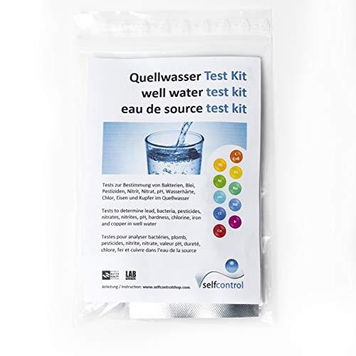 Selfcontrol UW 5525 D 01/Quellwasser Test Kit/Bakterien, Blei, Pestizide, Kupfer, Eisen, Nitrit, Nitrat, pH, Wasserhärte, Chlor -