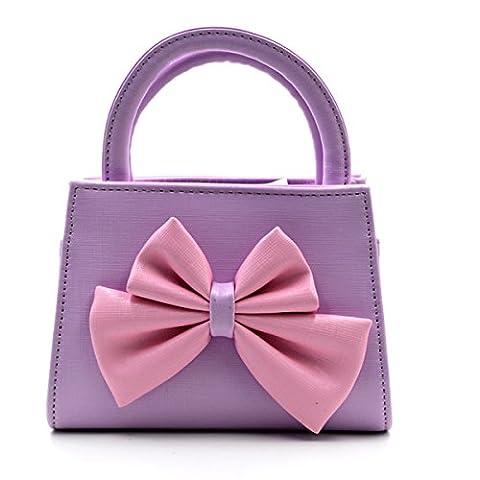 LA HAUTE Little Girls Fashion Tote Handbag Adorable Bowknot Purse Shoulder Bag Corssbody Bag (Color