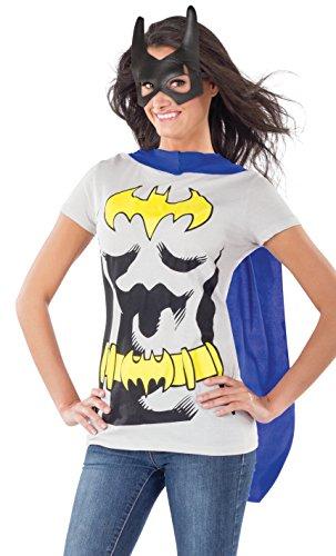 Kostüm Batgirls - Rubie's Offizielles Batman T-Shirt-Set für Damen, Kostüm für Erwachsene in Lösse M