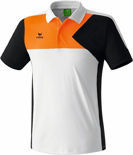 Erima Oberkörper-Bekleidung Premium One Poloshirt Men Weiß/Schwarz/Neon Orange