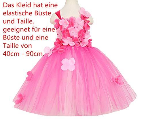 XEJ Mädchen Kinder Tüll Hochzeit Kleid Prinzessin Tutu Kleider Blumenmädchenkleid