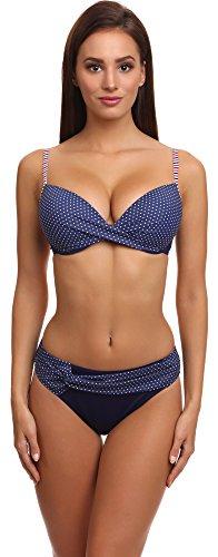 Antie Damen Bikini Set C4st1r3C1 2017 (Marineblau(1607), Cup 85C / Unterteil 42) (Triangel-bh Mädchen Geformtes)