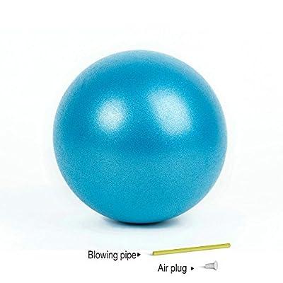 Mini Yoga Pilates Ball 25,4cm für Stabilität Übung Training Gym Anti Burst und rutschfeste Bälle mit aufblasbare Stroh