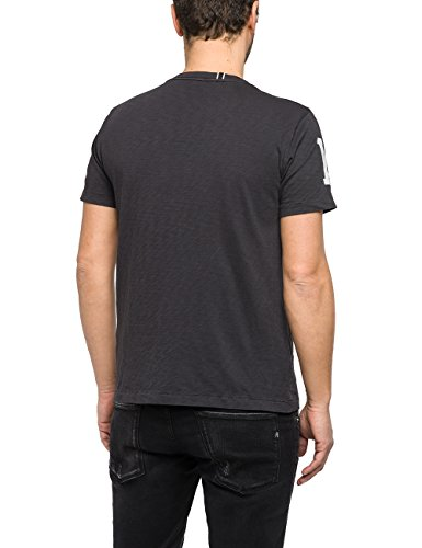 Replay Herren T-Shirt Schwarz (Nearly Black 99)