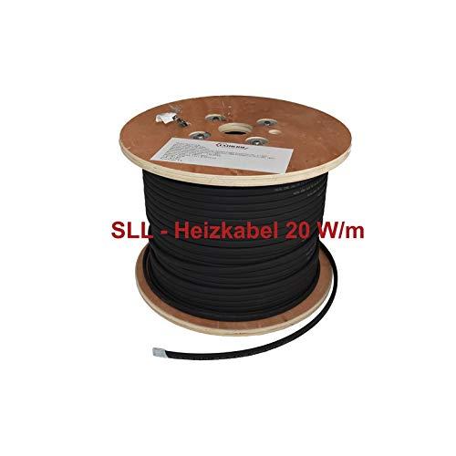 SLL Heizkabel für Frostschutz bei Dachrinnen Rohren Außenbereich 20 Watt/m (Rohre Heizkabel Für)