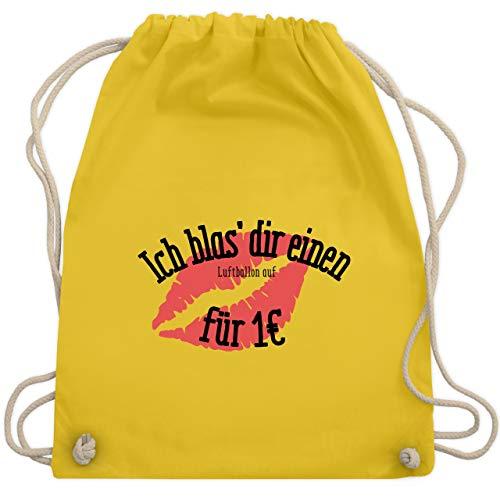 JGA Junggesellinnenabschied - Ich blas dir einen Luftballon auf - Unisize - Gelb - WM110 - Turnbeutel & Gym Bag