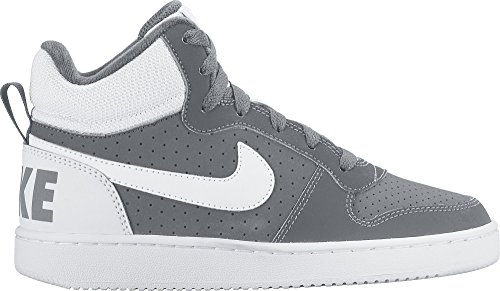Nike Court Borough Mid (Gs), Scarpe da Basket Bambino, Bianco Grigio (Cool Grey / White)