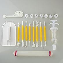 Decoración de Pasteles Juego de herramientas para pulidora, suavizado de fondant flor herramienta de modelado