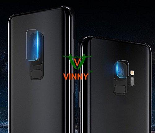 VINNY ™ Camera Lens Film Tempered Glass Guard Compatible for Samsung Galaxy S9 Camera Lens 7.5H Hardness Protector for Galaxy S9 Lens ( Not Compatible for Samsung Galaxy S9 Plus ) - Transparent