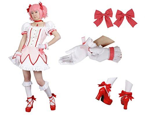 Milica Books Puella Magi Madoka Magica Madoka Kaname Cosplay Kostüm - Mehrfarbig - - Madoka Magica Cosplay Kostüm