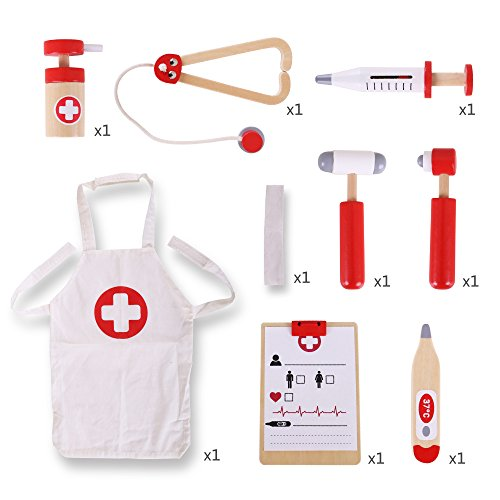 Bigjigs Toys Wooden Doctor's Kit - Pretend Play